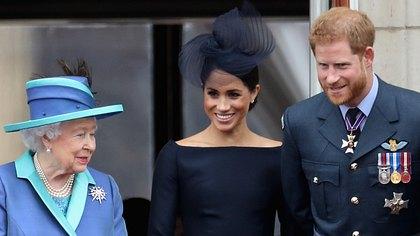 Queen Elizabeth, Herzogin Meghan, Prinz Harry - Foto: Chris Jackson/Getty Images