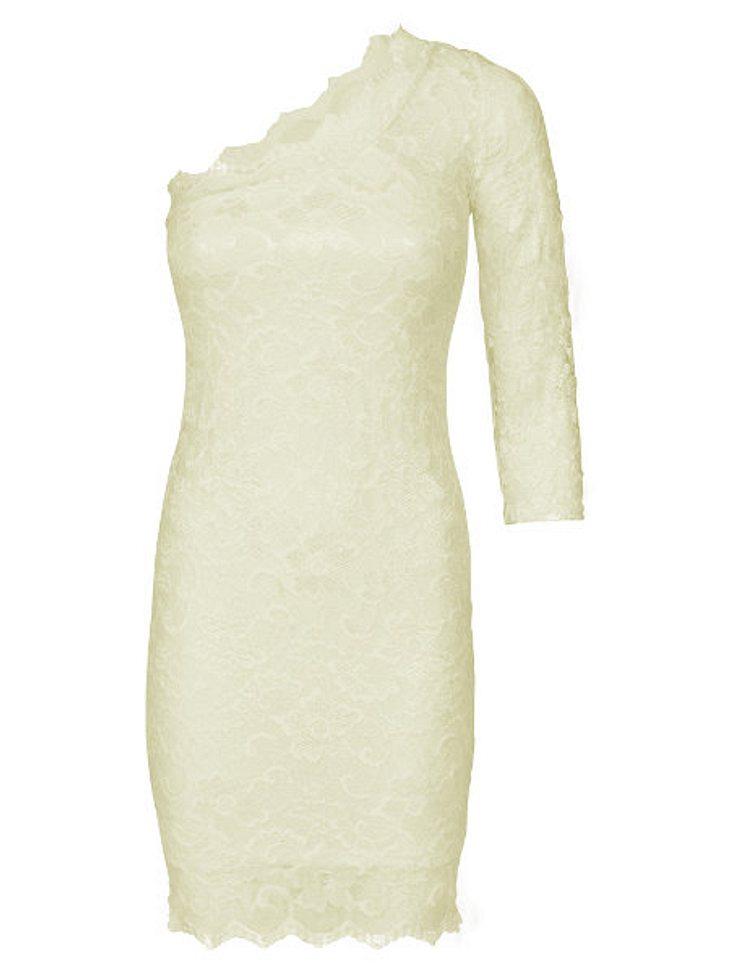 Life&Style Rabattaktion: 35 % Rabatt auf www.fourflavor.deEinseitig: Dieses One-Shoulder-Kleid aus Nylon und Viskose mit Spitzenbesatz ist die pure Verführung. Statt 59,90 Euro jetzt 38,94 Euro.
