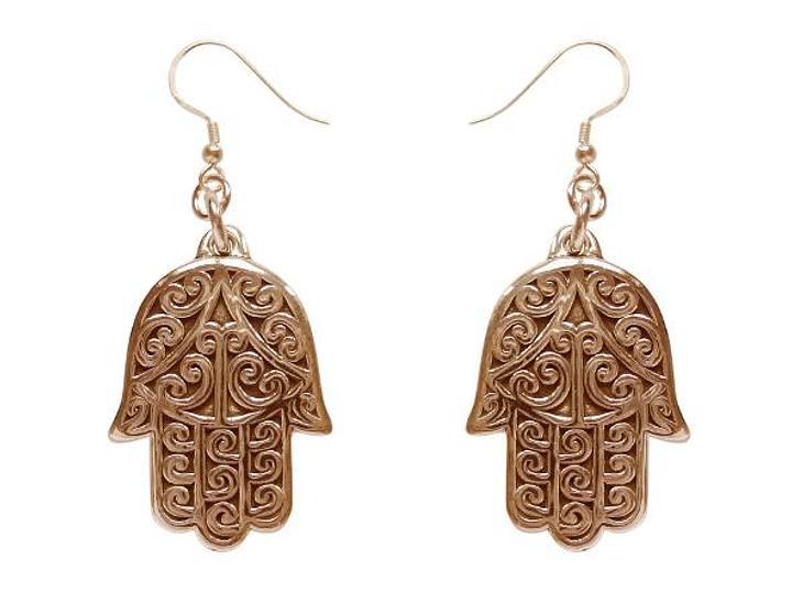 Hands up: Diese Ohrringe aus roségoldplattiertem Silber verdienen Applaus. Statt 159 Euro jetzt 111,30 Euro