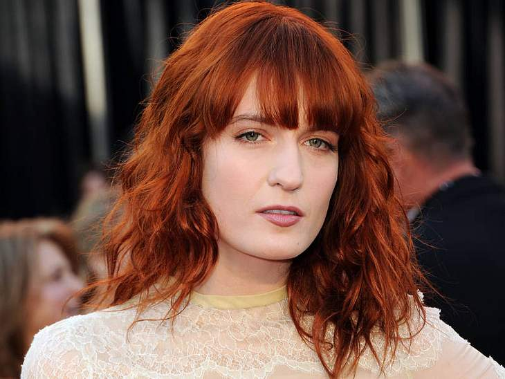 Trendstyle: Rote Haare Florence Welch  (Sängerin)