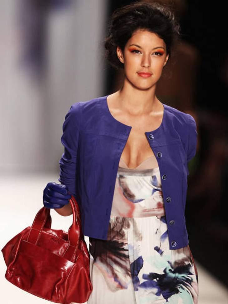 """Fashion Week Berlin""""GNTM""""-Zweite Rebecca Mir war gut gebucht für die Fashion Week."""