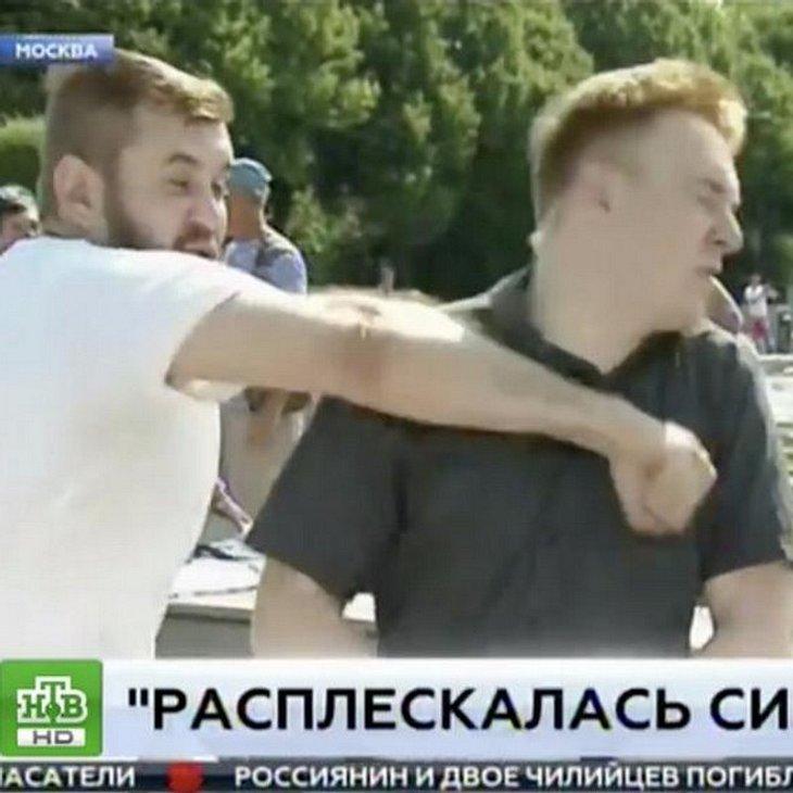 Reporter vor laufender Kamera verprügelt