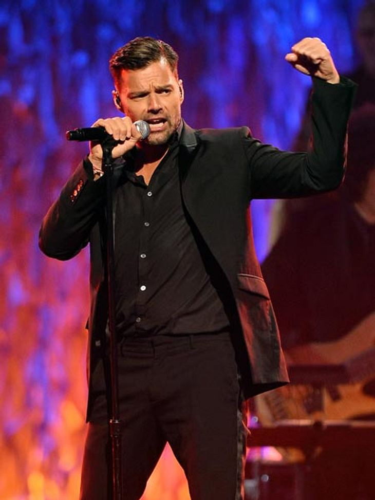 Ricky Martin mit seinen zwei Jungs.