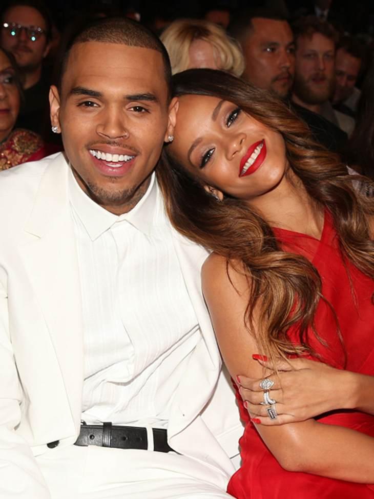 Chris Brown und Rihanna kuschelten den gesamten Abend.