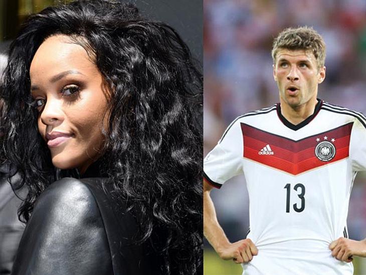 Erfolg macht sexy. Mit drei Toren kickte Müller sich in Rihannas herz