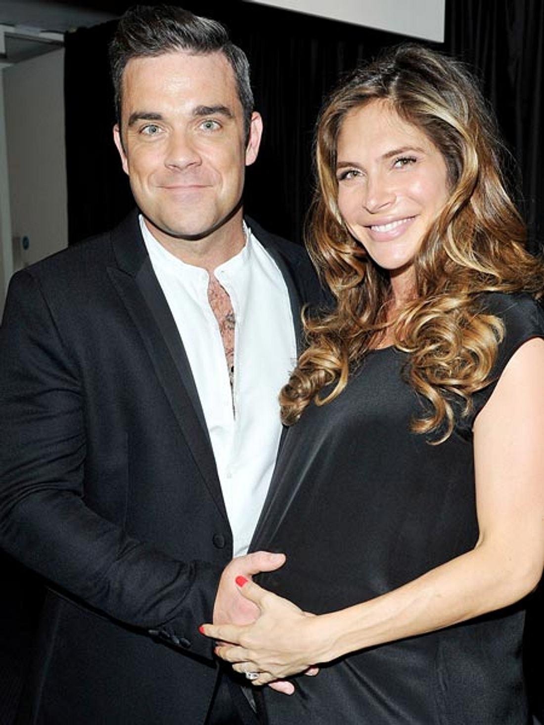 Robbie Williams und Ayda Field sind zum zweiten Mal Eltern geworden