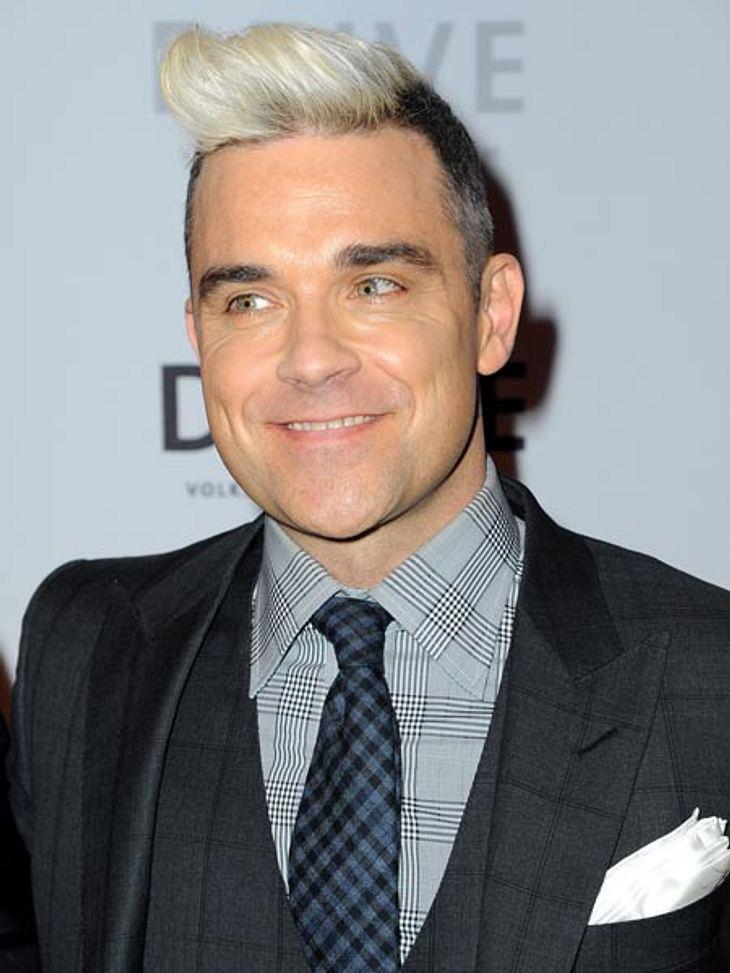 Robbie Williams präsentierte seine neue Frisur in Berlin