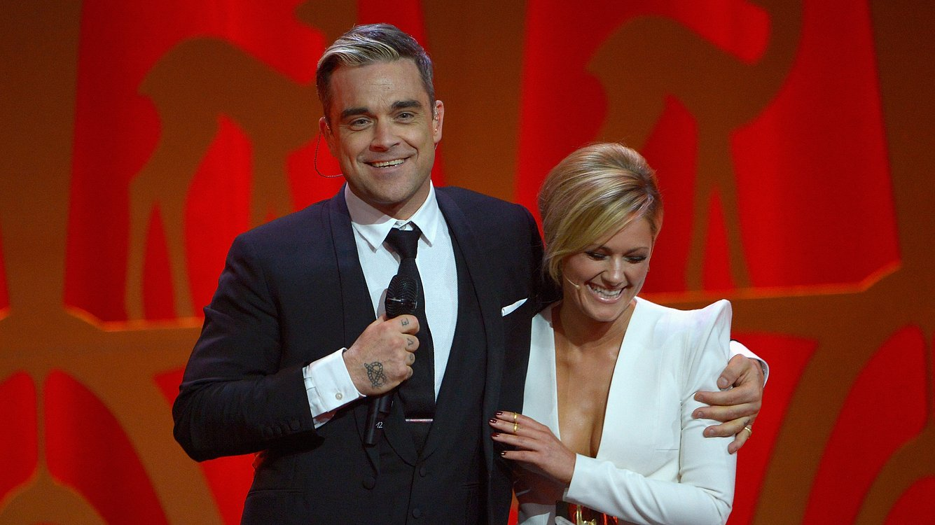 Robbie Williams und Helene Fischer
