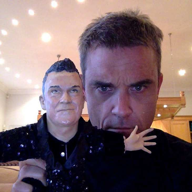 Robbie Williams Puppe Tochter