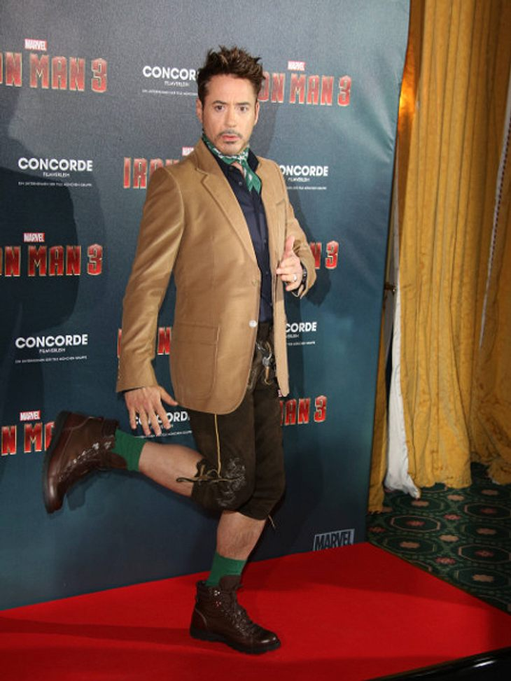 Robert Downey Jr.: Iron Man sexy in Lederhosen