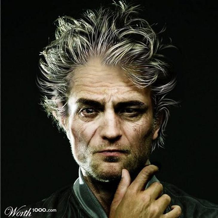 Photoshop-StarsBis(s) zur Rente! Ein bisschen gruselig sieht Robert Pattinson (25) ja schon aus. Eine Art verrückter Hollywood-Professor.