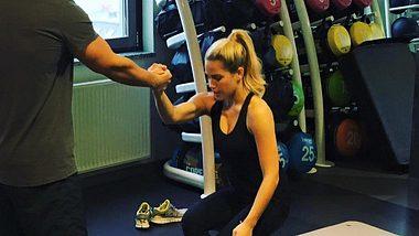 Rocco Stark begleitet Angelina Heger ins Fitnessstudio - Foto: Facebook/ Angelina Heger