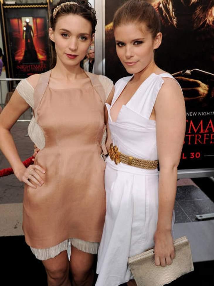 """Die heißesten Promi-GeschwisterMit ihrer Rolle der Lisbeth Salander in """"Verblendung"""" hat Schauspielerin Rooney Mara (27, l.) Hollywood quasi über Nacht erobert. Doch auch ihre jüngere Schwester ist als Schauspielerin erfolgreich:"""