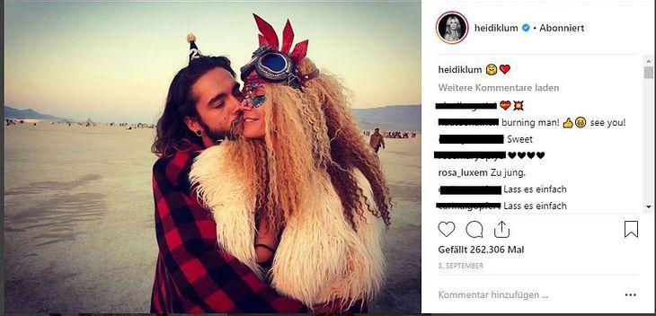 Daniel Küblböck kommentierte ein Bild von Heidi Klum