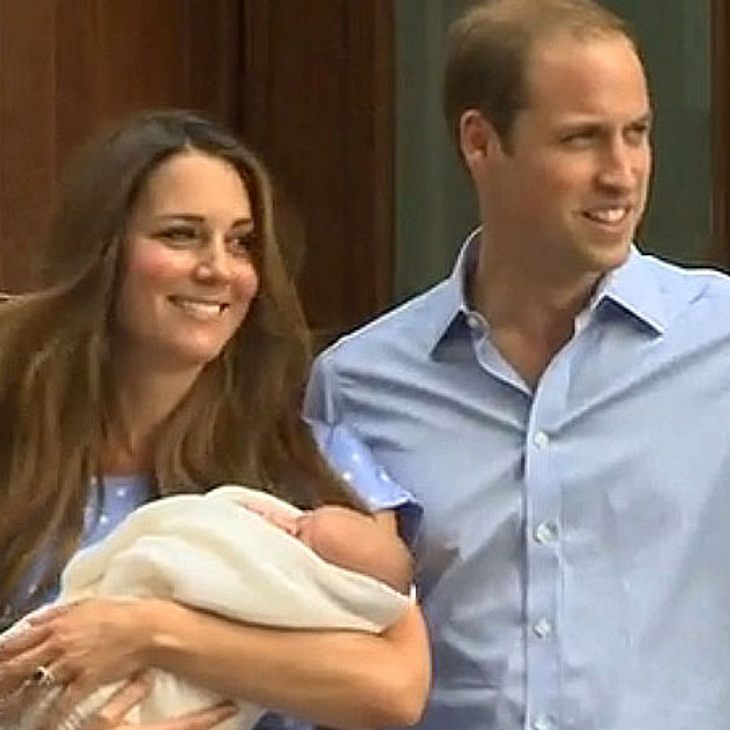 Kate und William mit ihrem Baby