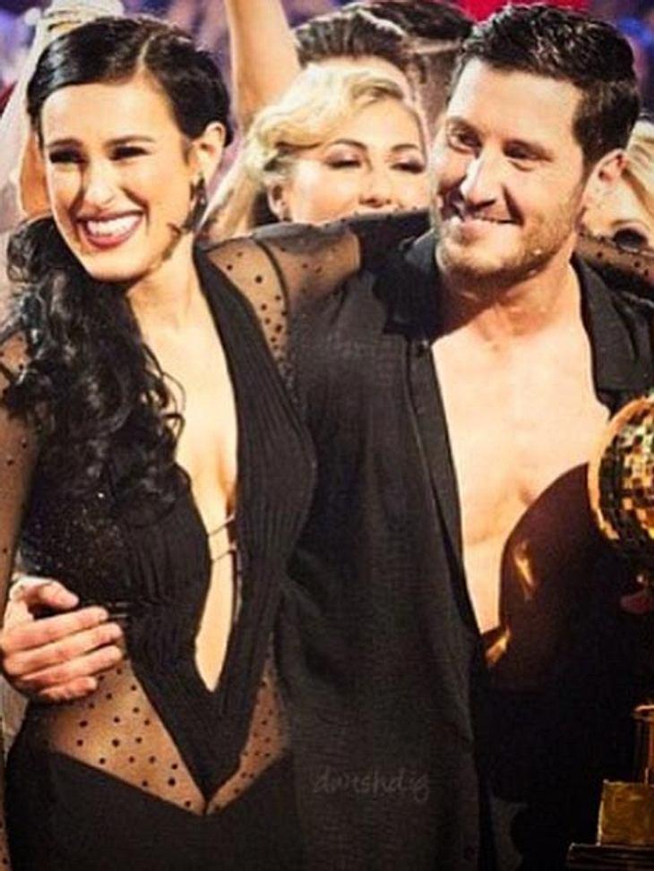 Rumer Willis und Tanzpartner Val haben den Pokal