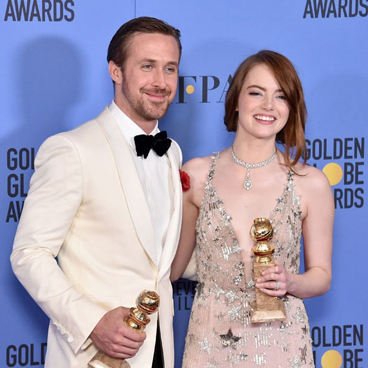 Image result for emma stone golden globe win