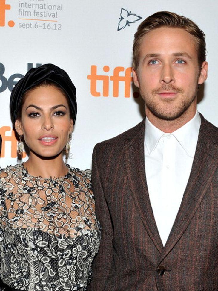 So geht es Eva Mendes und Ryan Gosling als Eltern.