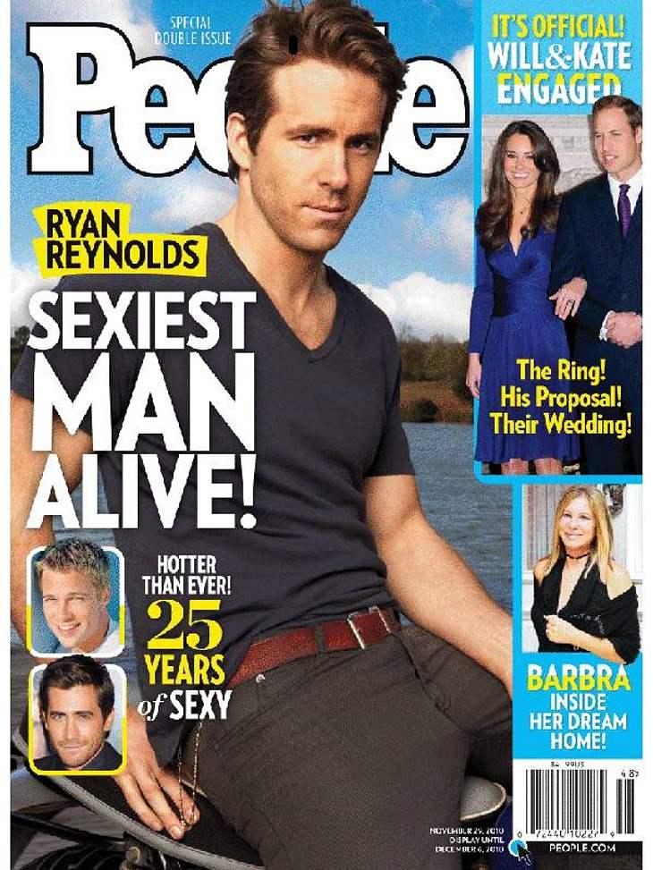 """Es ist wieder soweit, das US-Magazin """"People"""" hat wieder sein Urteil über den """"Sexiest Man Alive"""" gefällt. Dieses Jahr geht der begehrte Titel an """"Buried""""-Darsteller Ryan Reynolds. Der Gatte von Schauspielerin"""
