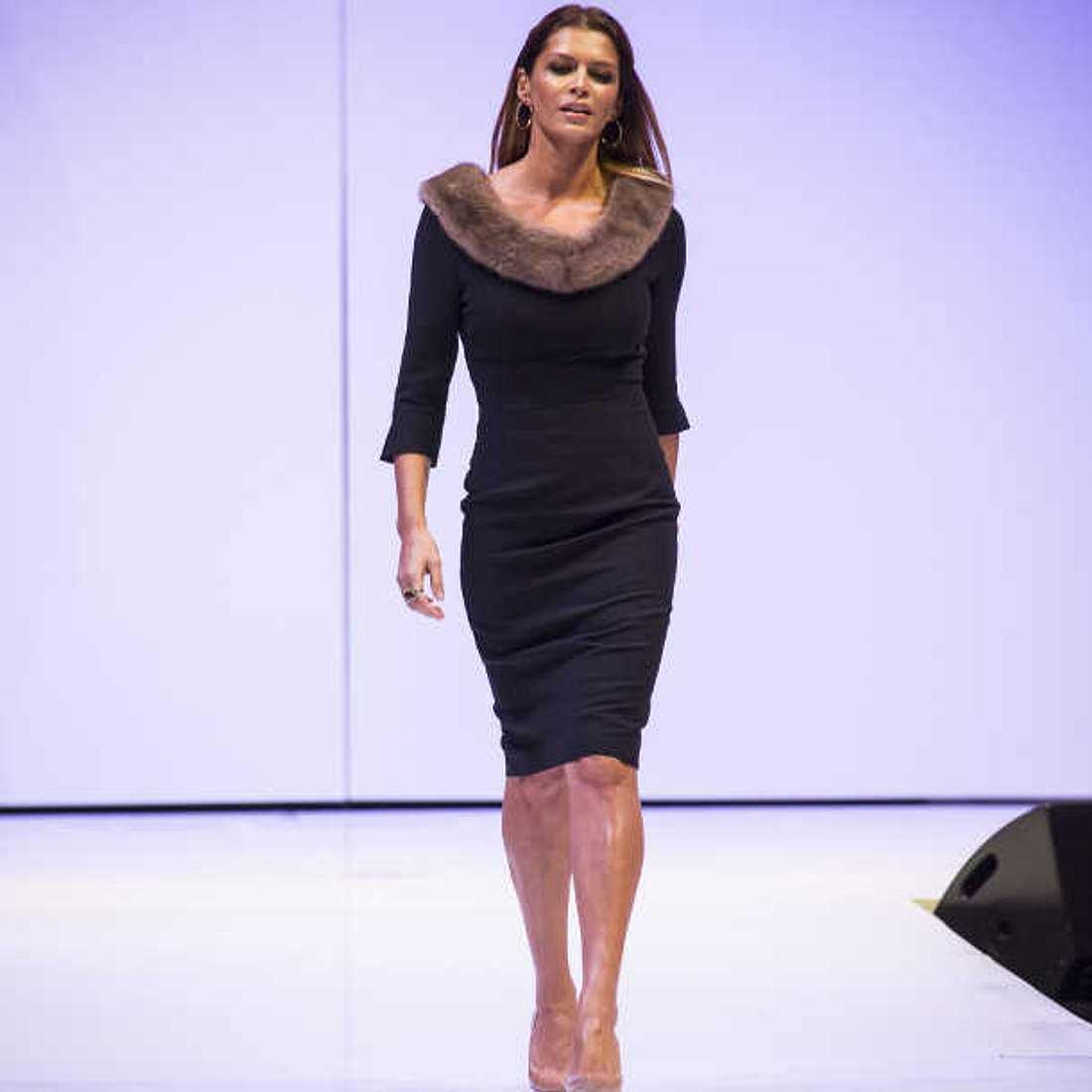 Schlank und schön: Sabia Boulahrouz als Model