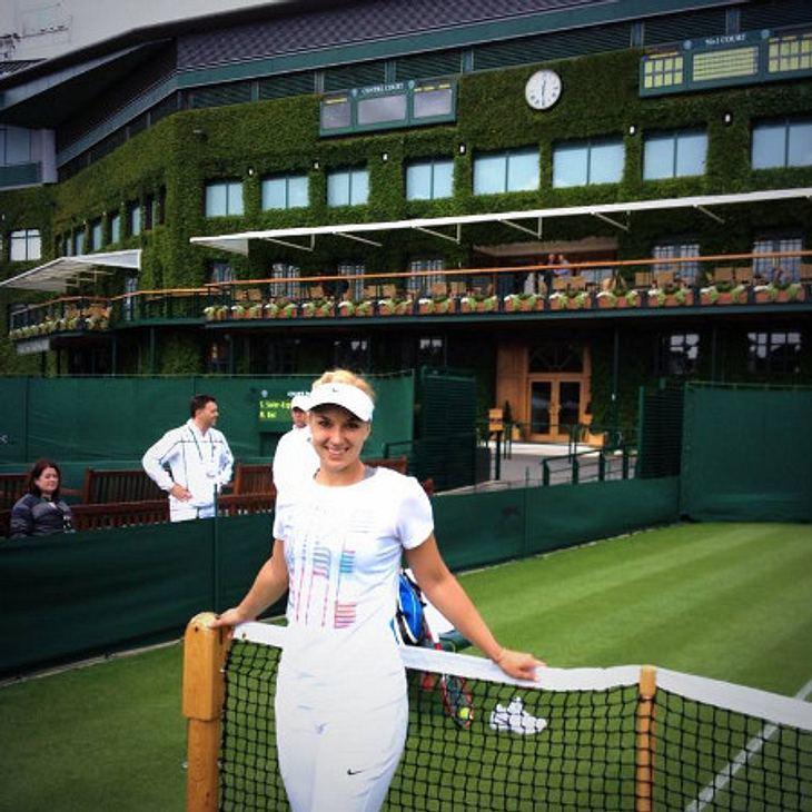 Sabine Lisicki nach ihrer Ankunft in Wimbledon. Bereits zwei Tage später spielte sie ihr erstes Match.