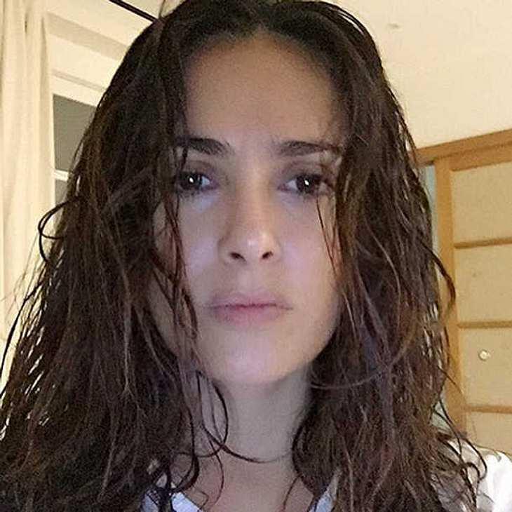 Salma Hayek zeigt sich ohne Make Up
