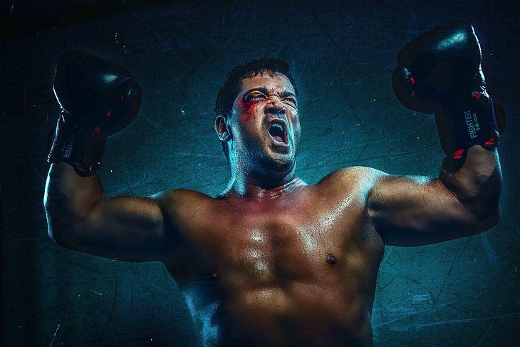 Sportlich: Sam Eisenstein als Rocky Balboa