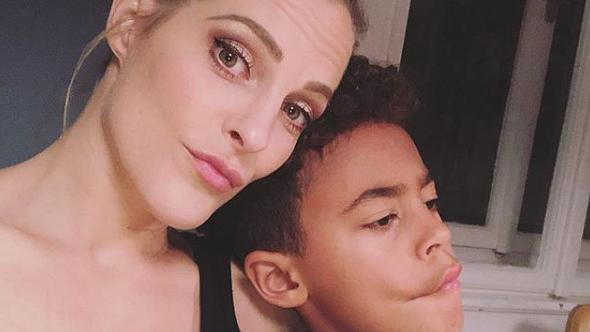 Sandy Mölling und Sohn Jayden - Foto: Instagram/@sandymoelling