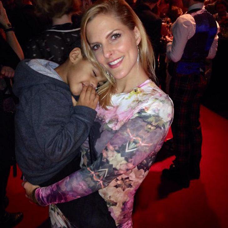 Sandy Mölling und Sohn Jayden
