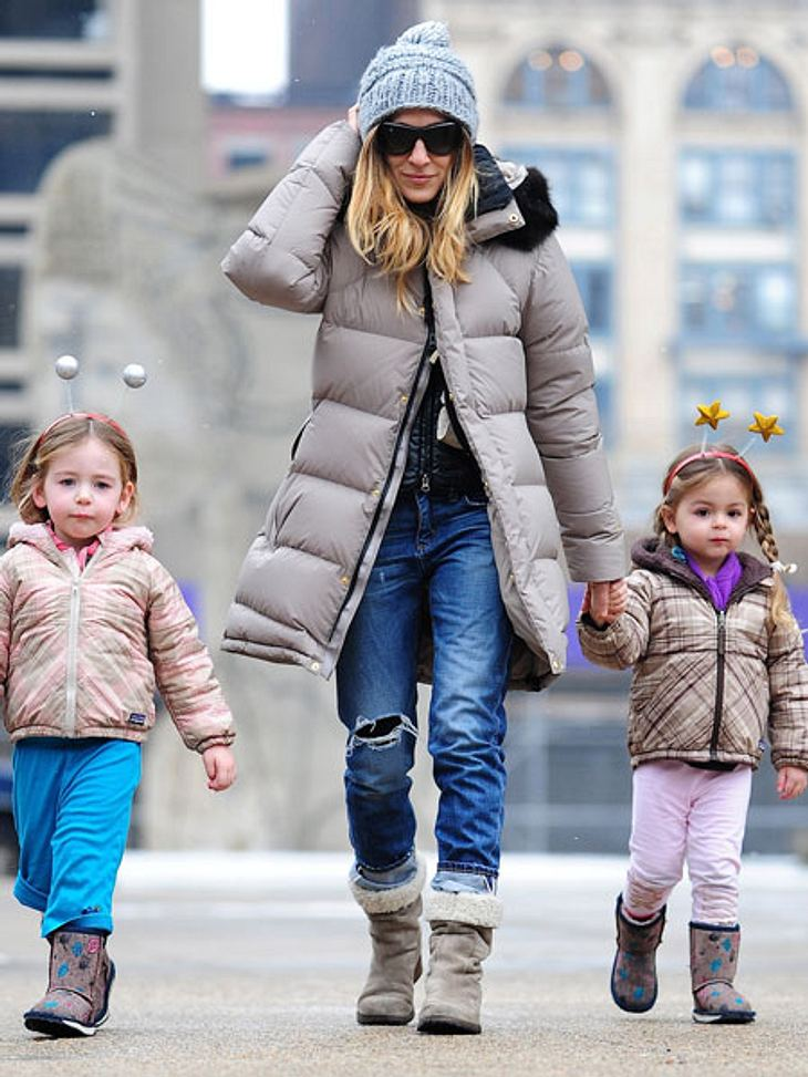 Sarah Jessica Parker und ihre Zwillinge Tabitha und Marion