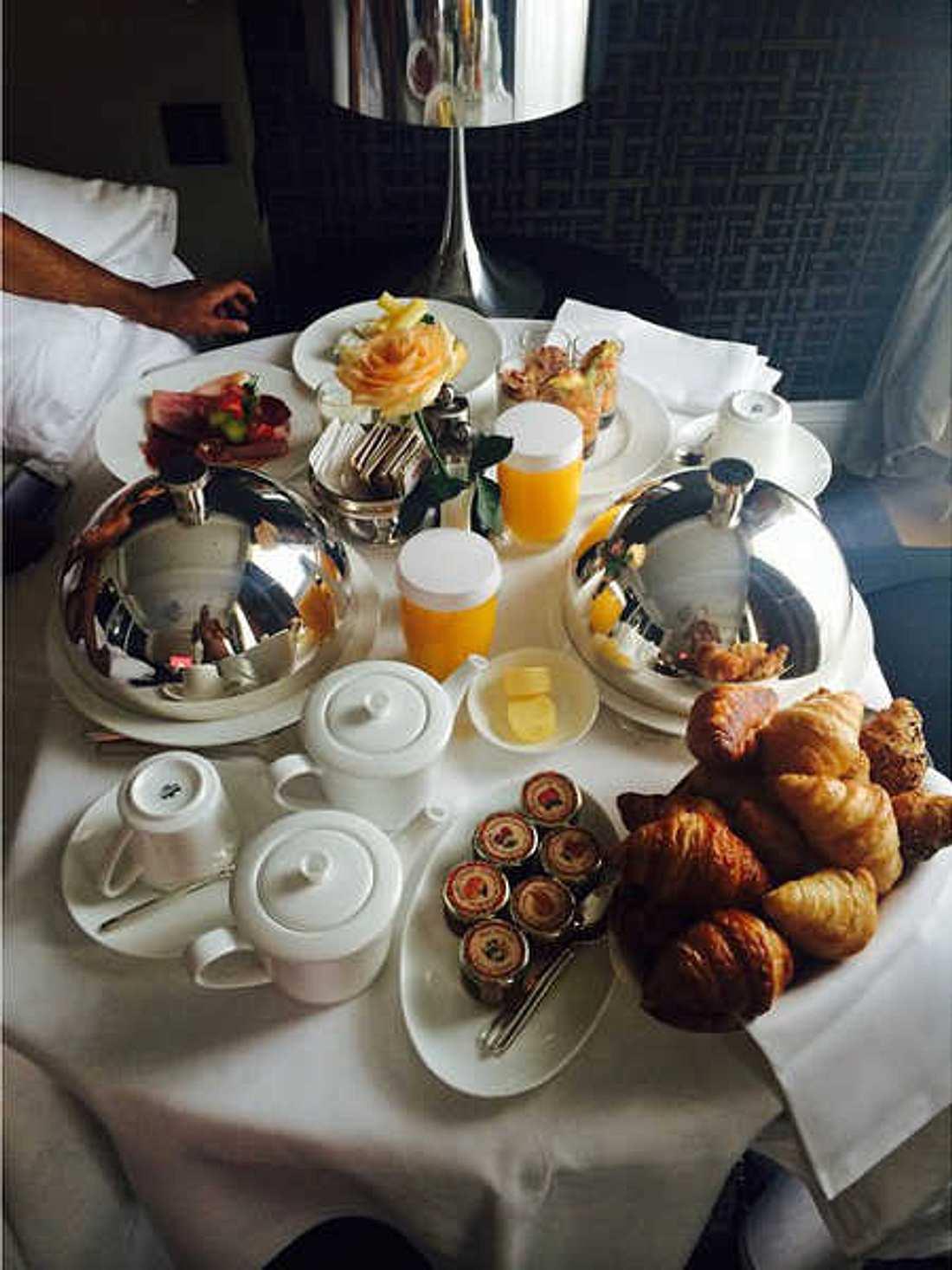 Sarah Kern wollte nur das Frühstück zeigen.