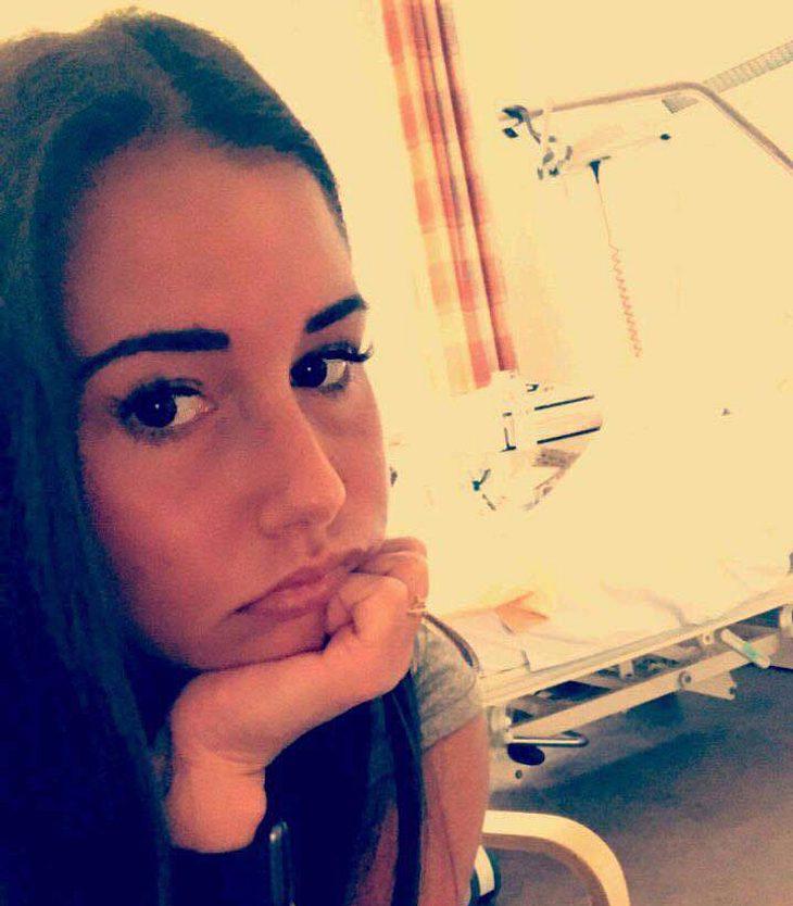 Sarah Lombardi im Krankenhaus