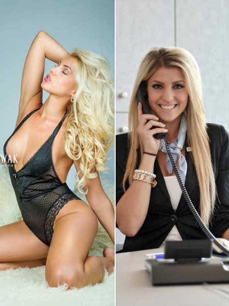 So unterschiedlich sieht Sarah Nowak in ihren zwei Berufen aus.