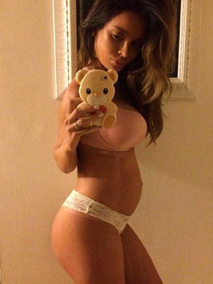 Sarah Stage: Das schwangere Sixpack-Model will in Ruhe dünn sein!