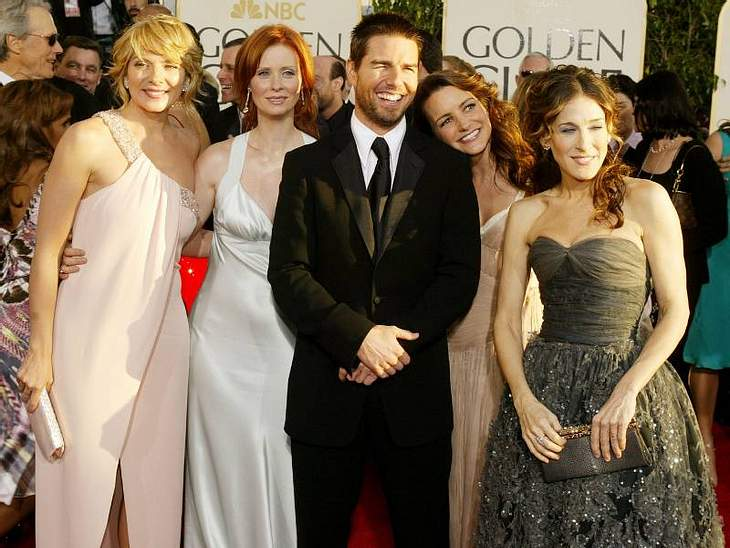 Die Mädels zusammen mit Tom Cruise.