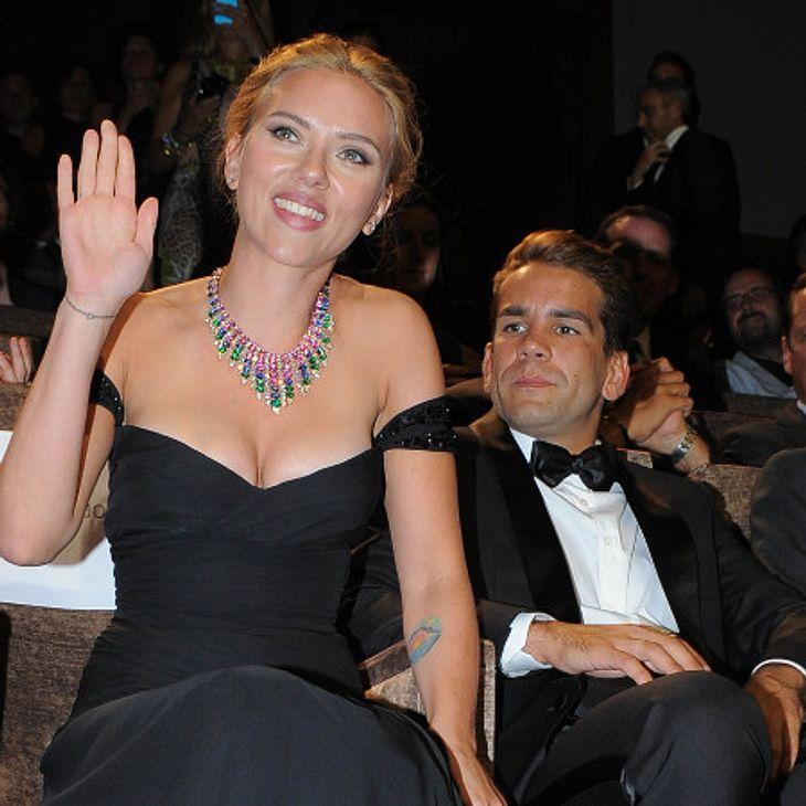 Scarlett Johansson mit ihrem Freund Romain Dauriac.