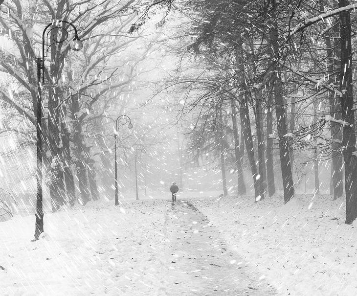 Schnee und Sturm in Deutschland