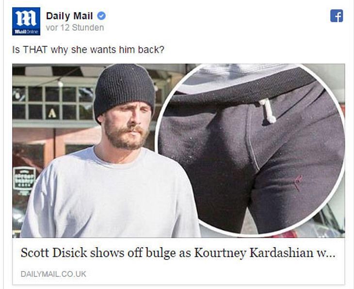 Scott Disick zeigt ungewollt seinen Penis