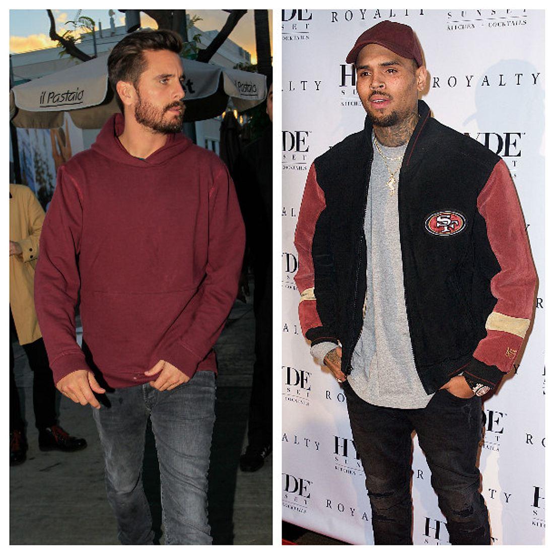 Scott Disick und Chris Brown sind echte Kumpels