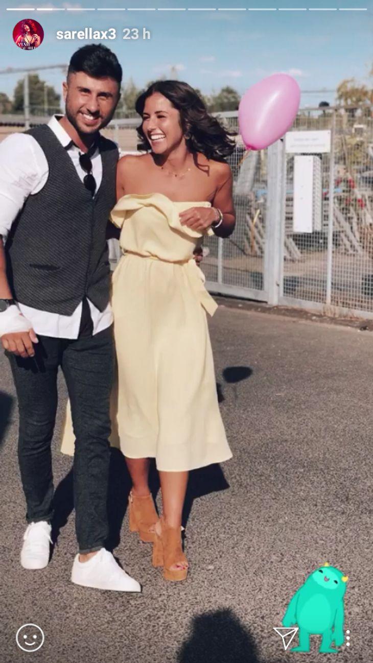 Sarah Lombardi und Roberto Ostuni gemeinsam auf einer Hochzeit