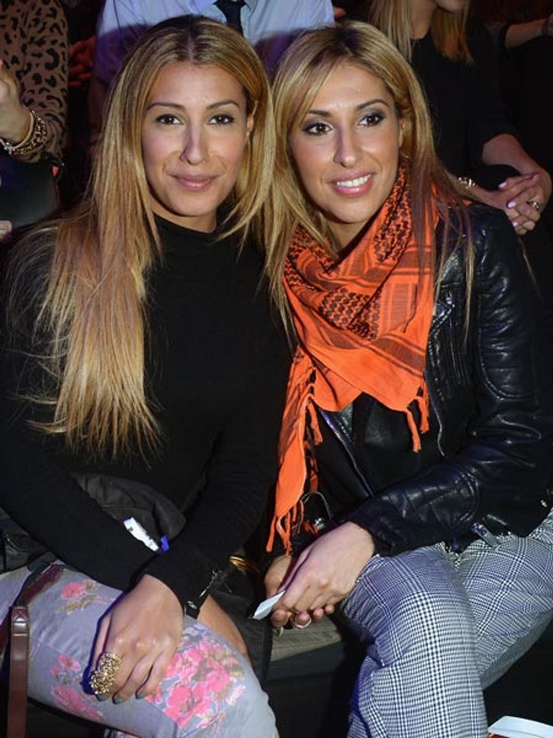 Senna Gammour mit ihrer Schwester bei der Fashion Week