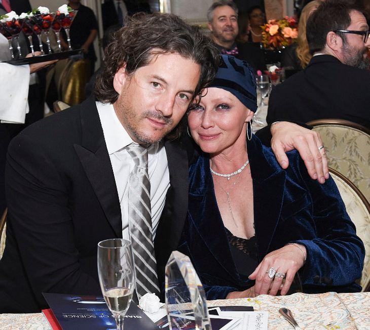 Shannen Doherty mit ihrem Ehemann Kurt Iswarienko