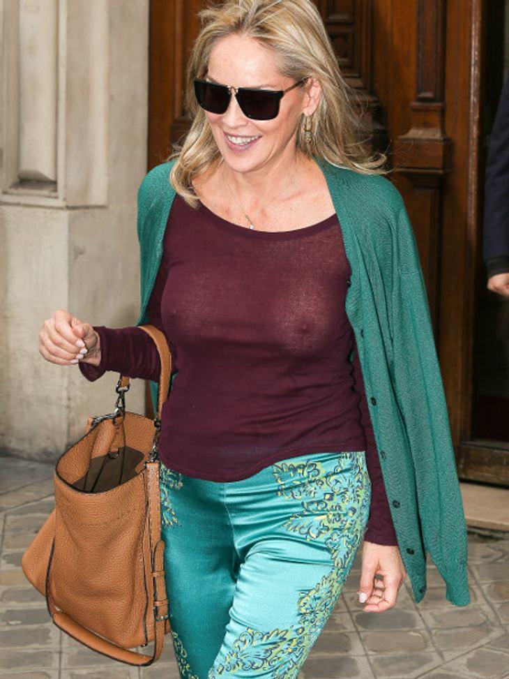 Sharon Stone zeigt zu viel