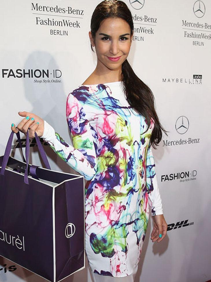 Sila Sahin auf der Fashion Week Berlin.