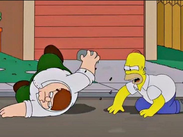 Natürlich streiten auch Homer und Peter
