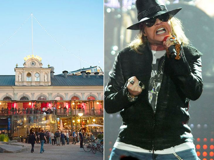 """Die Randale & Skandale der Stars""""Hotel Berns"""" in Stockholm  Bissiges Verhalten eines RockstarsPöbelndes Auftreten gehört für den einen oder anderen Musiker bekanntermaßen zum guten Ton. """"Guns N' Roses""""-Frontmann Axl"""