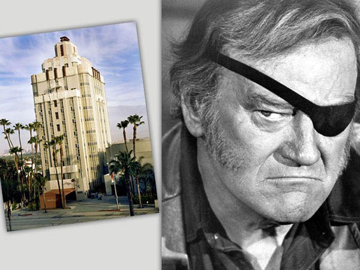 """Die Randale & Skandale der Stars""""Sunset Tower Hotel"""" in West Hollywood/Los Angeles  Frisch gezapfte KaffeesahneWestern-Star John Wayne († 72) war offensichtlich nicht gern allein. Sonst hätte er wohl kaum eine echte Kuh mit in"""