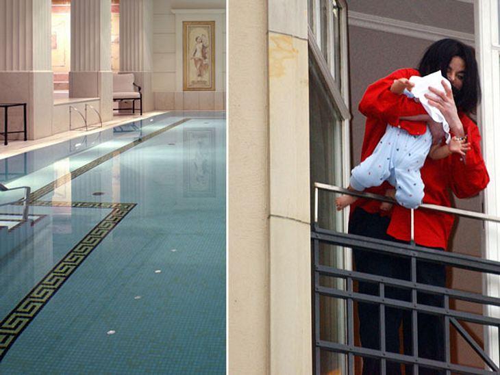 """Die Randale & Skandale der Stars""""Hotel Adlon Kempinski"""" in Berlin  Legendäre Fenster-Aktion des King of PopBerlin war 2002 der Schauplatz der wohl bekanntesten Balkonszene seit Romeo und Julia. Hunderte Fans und ebenso viele F"""