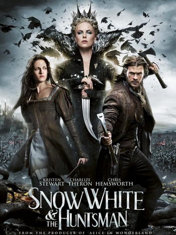 """Die Oscar-Filme 2013Zwei Oscar-Nominierungen gibt es immerhin für """"Snow White and the Huntsman"""" mit  Kristen Stewart. Die Schauspieler selbst brillierten weniger in der Märchen-Adaption, dafür das Kostümdesign und die visuellen Ef"""