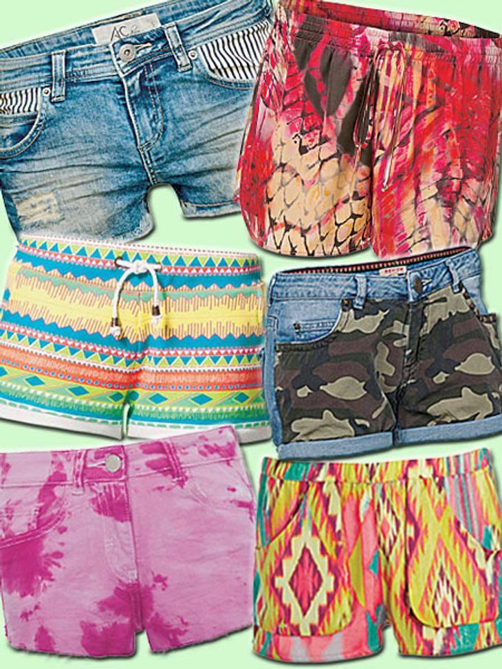 Shorts, Shorts, Shorts gefallen in allen Farben und Varianten.